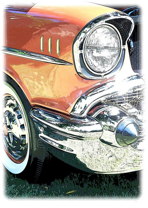 Color Greeting Card featuring the photograph 1957 Chevy by Steve McKinzie
