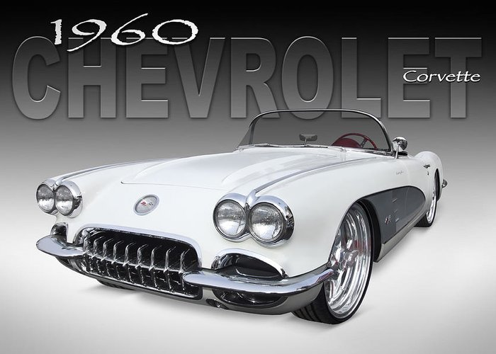Chevy Greeting Card featuring the photograph 1960 Corvette by Mike McGlothlen