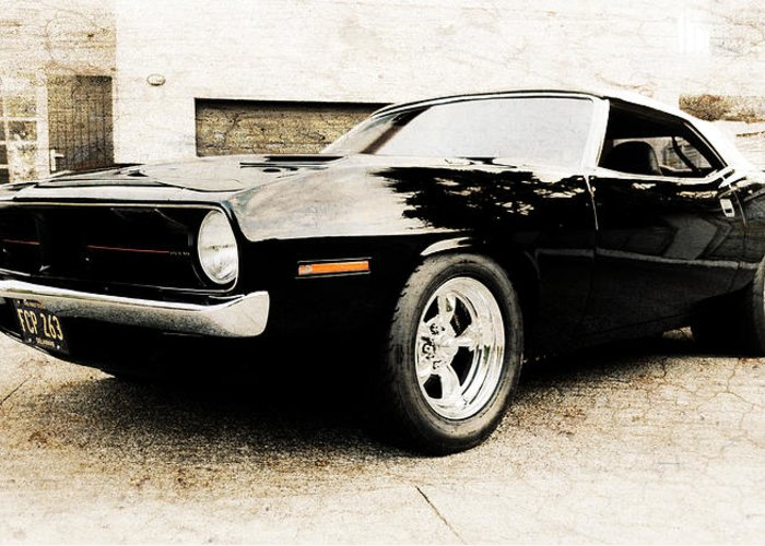 Plymouth Cuda Greeting Card featuring the photograph 1970 Plymouth Cuda by Phil 'motography' Clark