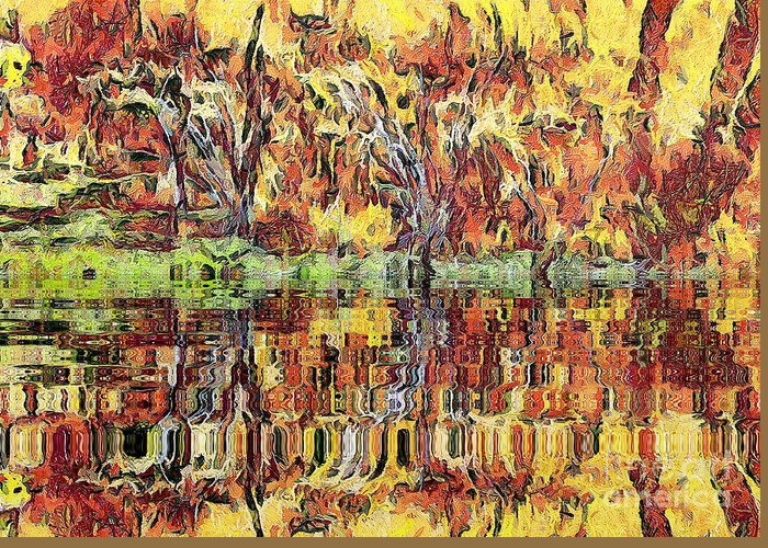 Odon Greeting Card featuring the painting Abstract Artwork by Odon Czintos