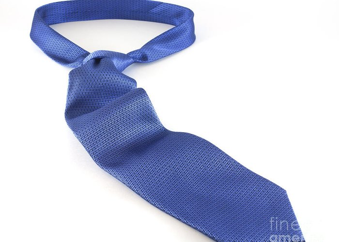 Necktie Greeting Card featuring the photograph Blue Tie by Blink Images