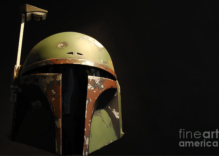 Boba Fett Greeting Card featuring the photograph Boba Fett Helmet by Micah May