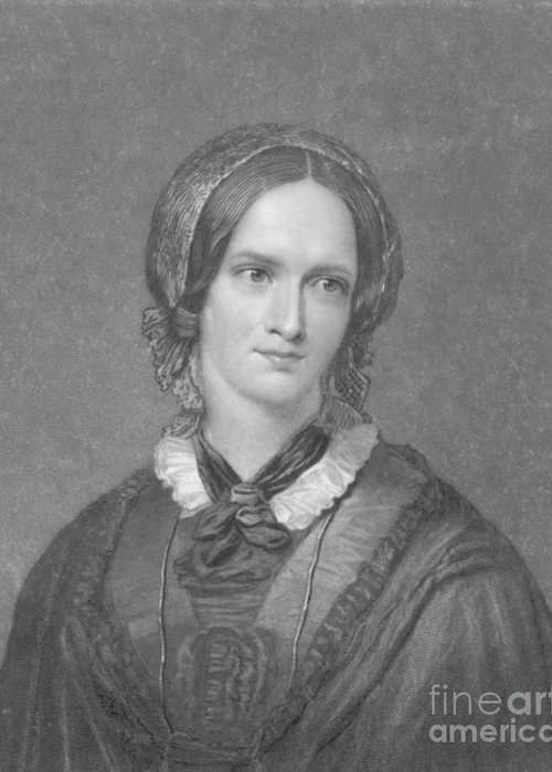 Charlotte Bronte Greeting Card featuring the photograph Charlotte Bronte, English Author by Photo Researchers