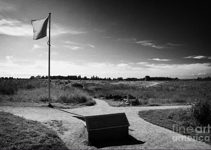 Culloden Greeting Card featuring the photograph Culloden Moor Battlefield Site Highlands Scotland by Joe Fox