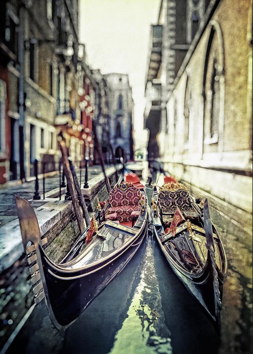 Gondola Greeting Card featuring the photograph Gondolas by Joana Kruse