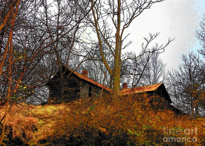 Virginia Greeting Card featuring the photograph House On The Hill by Joyce Kimble Smith