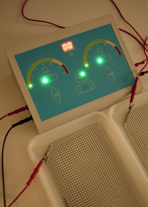 Technology Greeting Card featuring the photograph Iontophoresis Equipment by