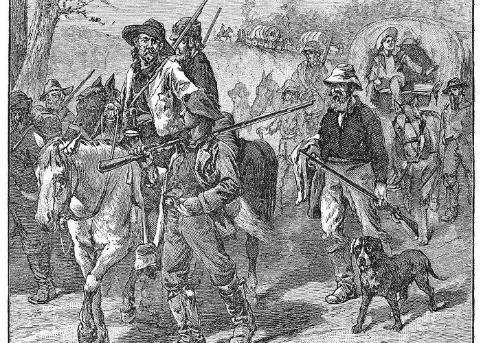 1856 Greeting Card featuring the photograph Kansas: Border Ruffians by Granger