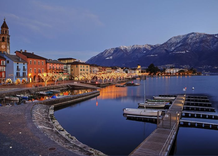 Ascona Greeting Card featuring the photograph Lake Maggiore - Ascona by Joana Kruse