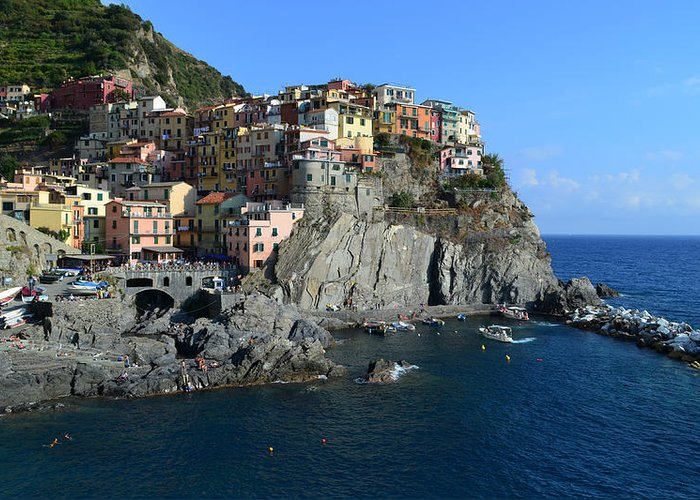 Manarola Greeting Card featuring the photograph Manarola by Barbara Walsh
