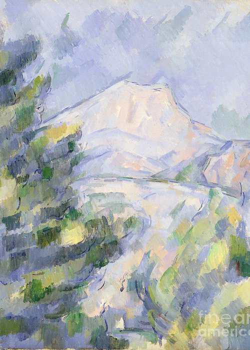 Mont Greeting Card featuring the painting Mont Sainte-victoire by Paul Cezanne