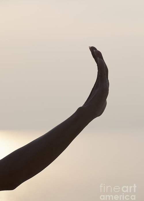 Abhaya Greeting Card featuring the photograph Mudra Hand Gesture by Roberto Morgenthaler