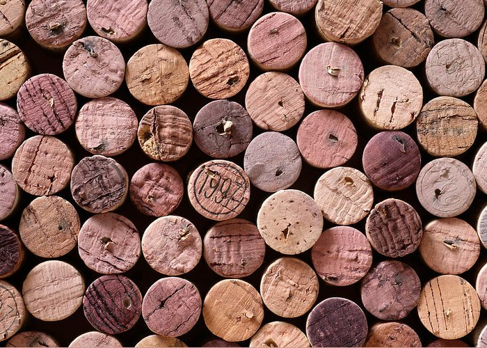 Wine Greeting Card featuring the photograph Red Wine Corks by Frank Tschakert