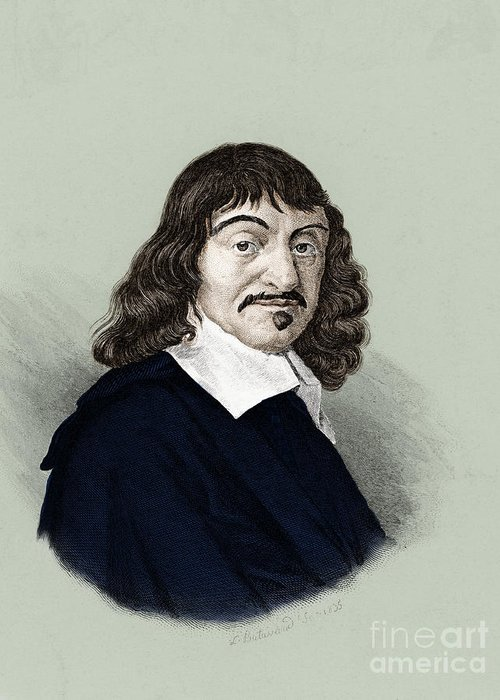People Greeting Card featuring the photograph Rene Descartes, French Polymath by Science Source