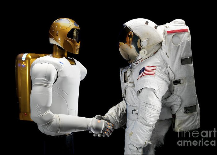 Dexterous Greeting Card featuring the photograph Robonaut 2, A Dexterous, Humanoid by Stocktrek Images