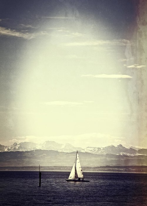Ship Greeting Card featuring the photograph Sailing Boat by Joana Kruse