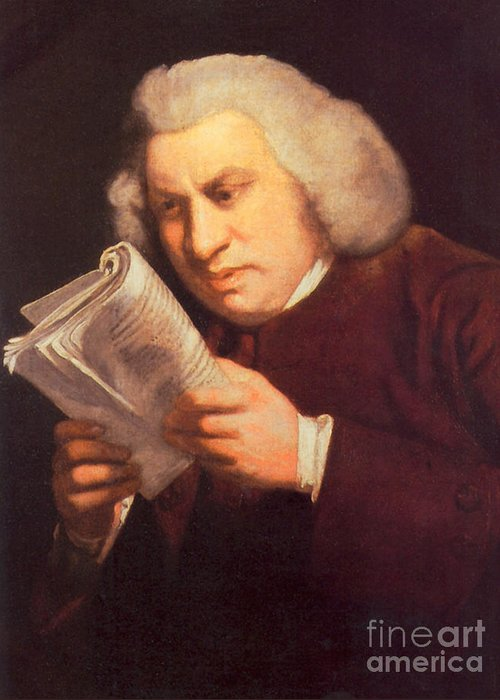 History Greeting Card featuring the photograph Samuel Johnson, English Author by Photo Researchers