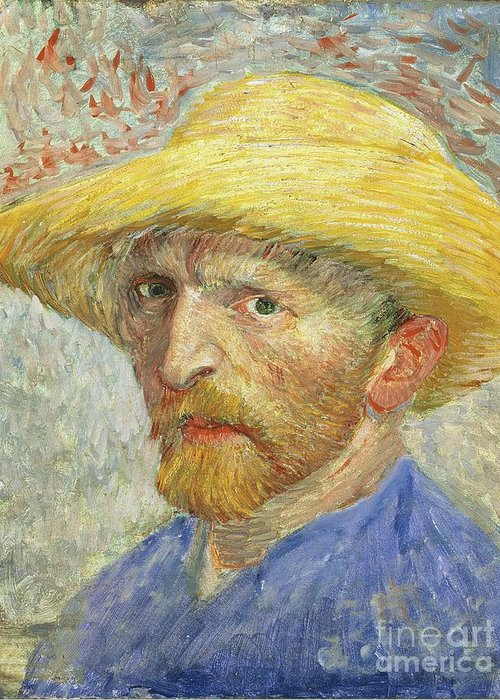 Self Greeting Card featuring the painting Self Portrait by Vincent van Gogh