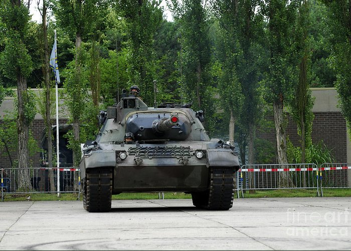 Adults Only Greeting Card featuring the photograph The Leopard 1a5 Mbt Of The Belgian Army by Luc De Jaeger