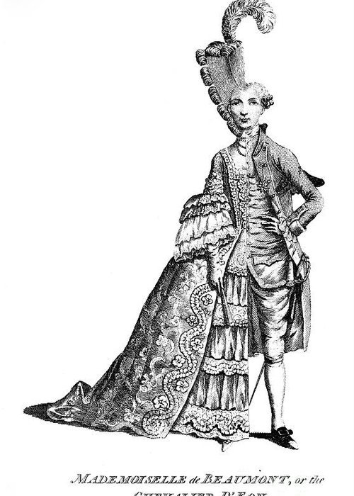 1777 Greeting Card featuring the photograph Charles Deon De Beaumont by Granger
