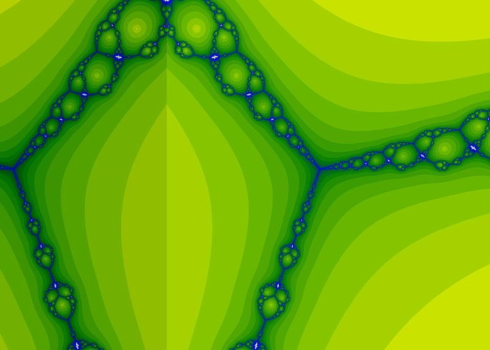 Nature Greeting Card featuring the digital art Green Fractal by Odon Czintos