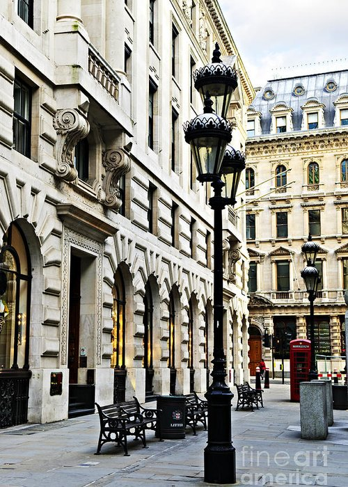 London Greeting Card featuring the photograph London Street by Elena Elisseeva