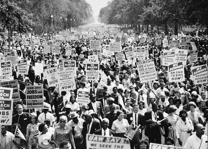 1963 Greeting Card featuring the photograph March On Washington. 1963 by Granger