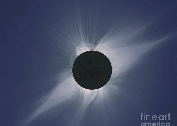 Solar Eclipse Greeting Card featuring the photograph Solar Eclipse by Nasa