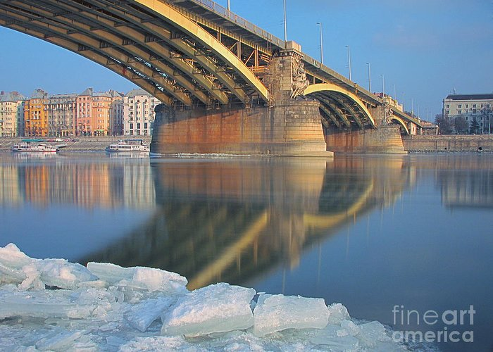 Nature Greeting Card featuring the photograph The Bridge by Odon Czintos