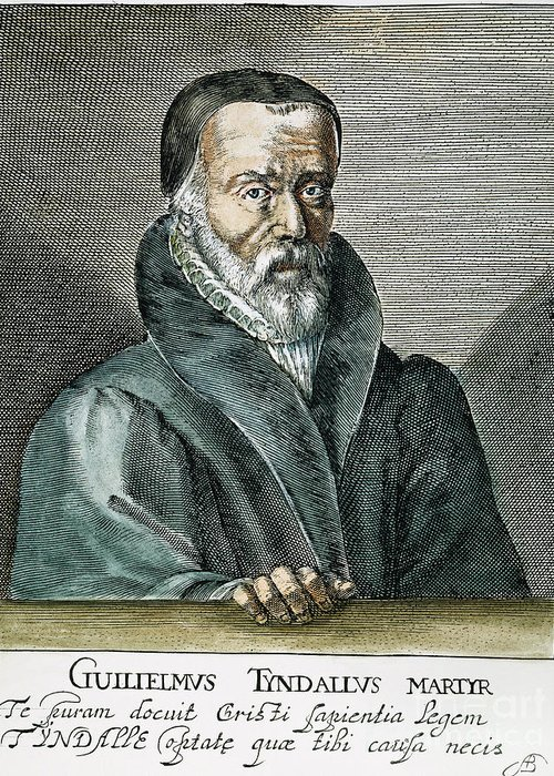 16th Century Greeting Card featuring the photograph William Tyndale (1492?-1536) by Granger
