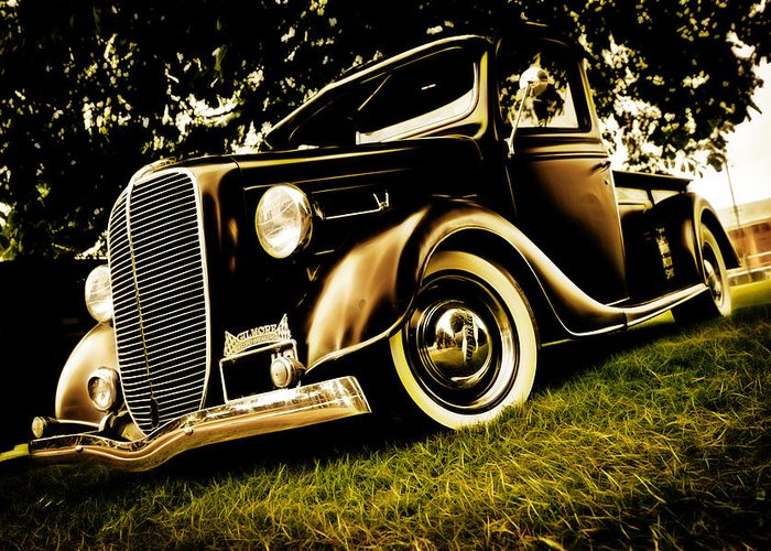 Ford Pickup Greeting Card featuring the photograph 37 Ford Pickup by Phil 'motography' Clark