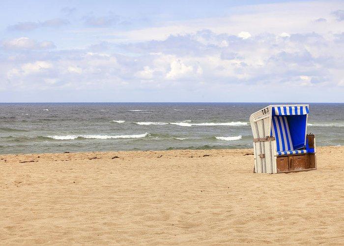 Beach Chair Greeting Card featuring the photograph Beach Chair by Joana Kruse