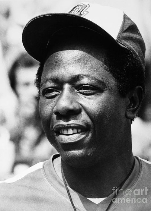 1974 Greeting Card featuring the photograph Hank Aaron (1934- ) by Granger