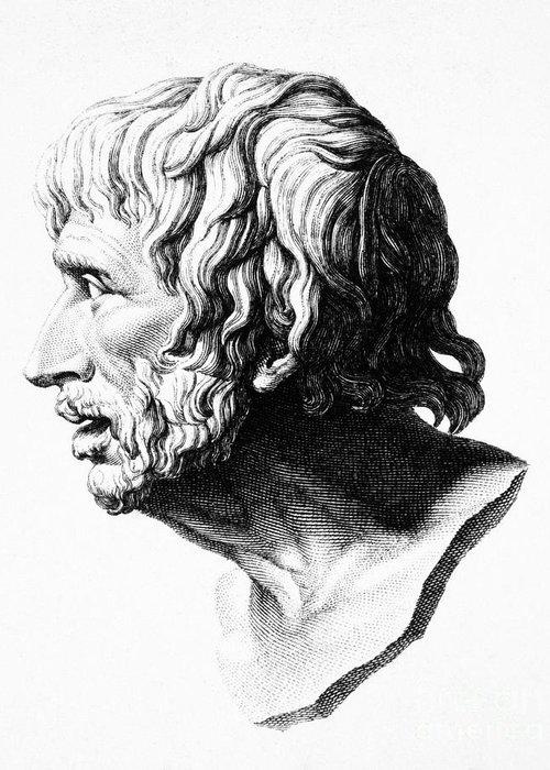 1st Century Greeting Card featuring the photograph Lucius Annaeus Seneca by Granger