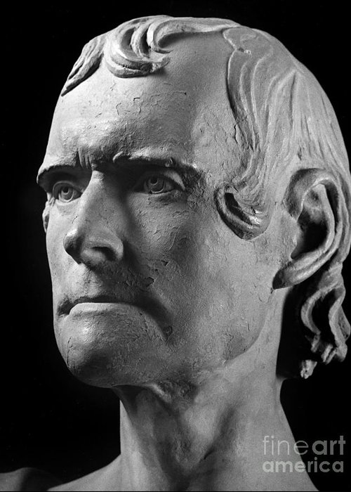 1825 Greeting Card featuring the photograph Thomas Jefferson (1743-1826) by Granger
