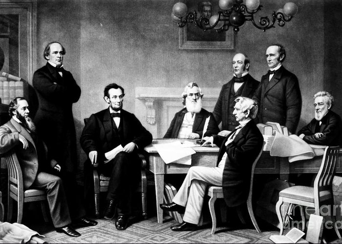 1862 Greeting Card featuring the photograph Emancipation Proclamation by Granger