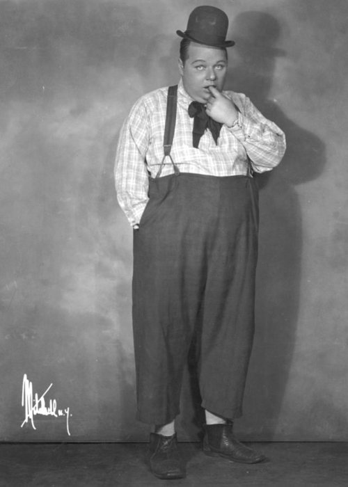 -nec01- Greeting Card featuring the photograph Roscoe Fatty Arbuckle by Granger