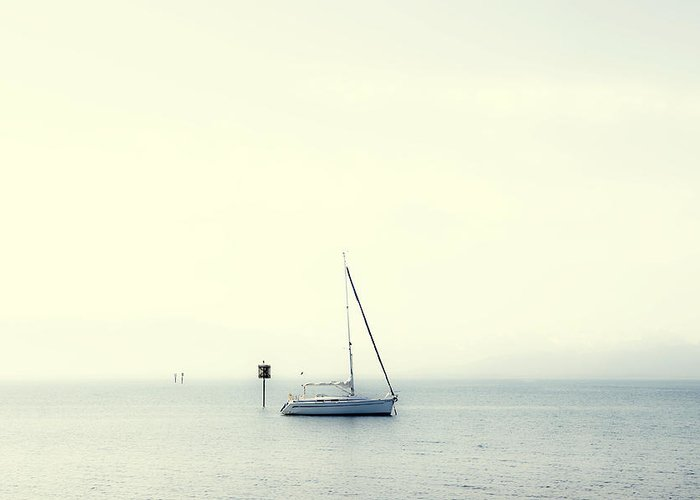 Boat Greeting Card featuring the photograph Sailing Boat by Joana Kruse