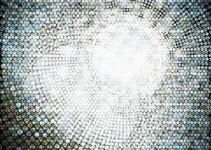 Abstract Greeting Card featuring the photograph Abstract Of Circle by Setsiri Silapasuwanchai