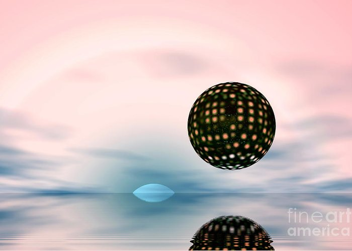 Nature Greeting Card featuring the digital art Planets by Odon Czintos