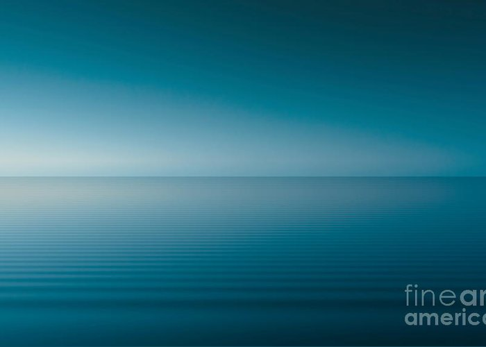 Nature Greeting Card featuring the digital art Blue Lake by Odon Czintos