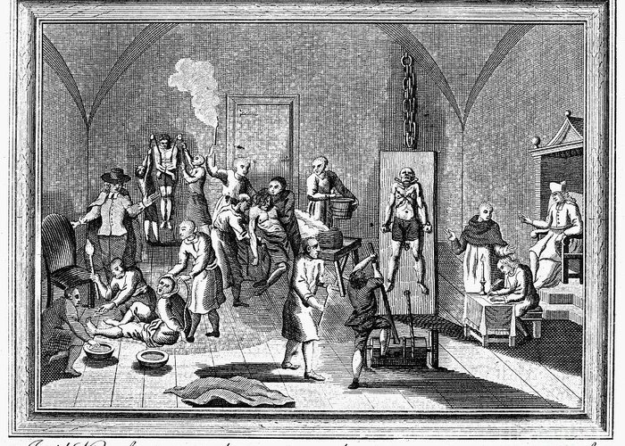 18th Century Greeting Card featuring the photograph Spanish Inquisition by Granger