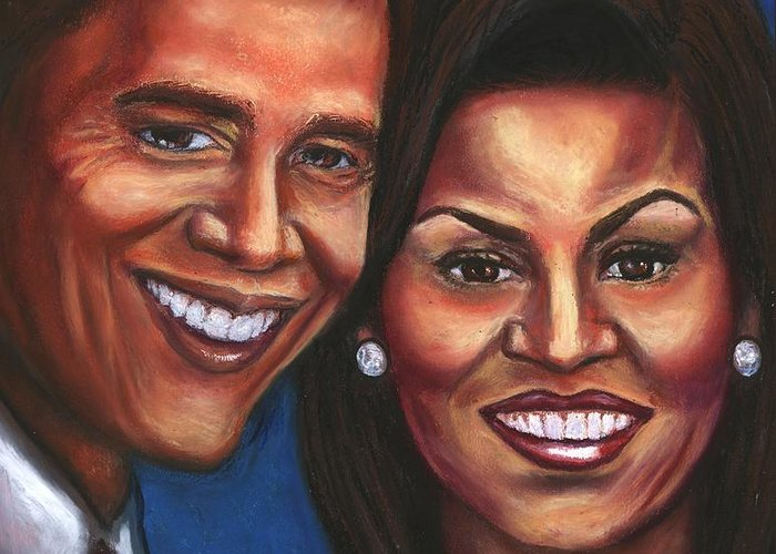First Couple Greeting Card featuring the mixed media A Dream Came True by Alga Washington