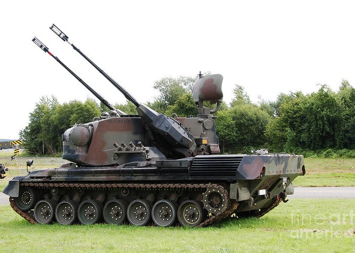 35mm Greeting Card featuring the photograph A Gepard Anti-aircraft Tank by Luc De Jaeger