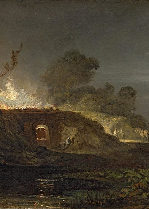 Xyc145616 Greeting Card featuring the photograph A Lime Kiln At Coalbrookdale by Joseph Mallord William Turner