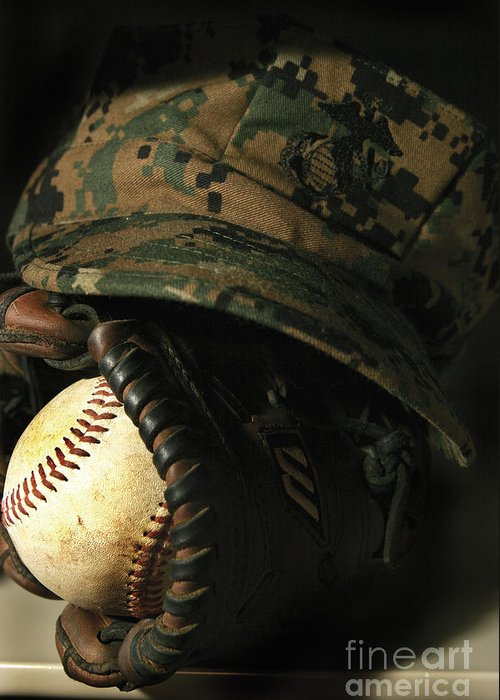 Athletes Greeting Card featuring the photograph A Marines Athletic Gear by Stocktrek Images