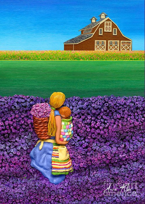 Flowers Greeting Card featuring the sculpture A Moment - Crop Of Original - To See Complete Artwork Click View All by Anne Klar