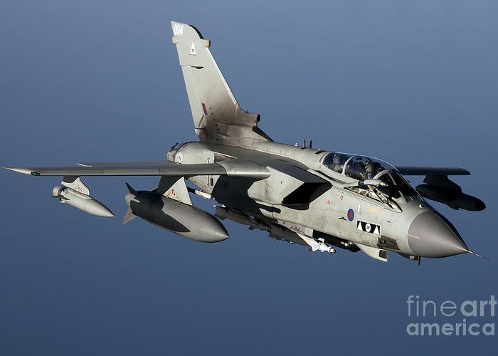 Libya Greeting Card featuring the photograph A Panavia Tornado Gr4 Of The Royal Air by Gert Kromhout