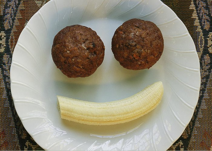 Foods Greeting Card featuring the photograph A Smiling Breakfast Of Muffins by Marc Moritsch