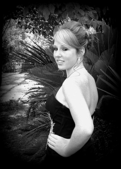 Black And White Monochrome Greeting Card featuring the photograph A True Belle by Sheri McLeroy